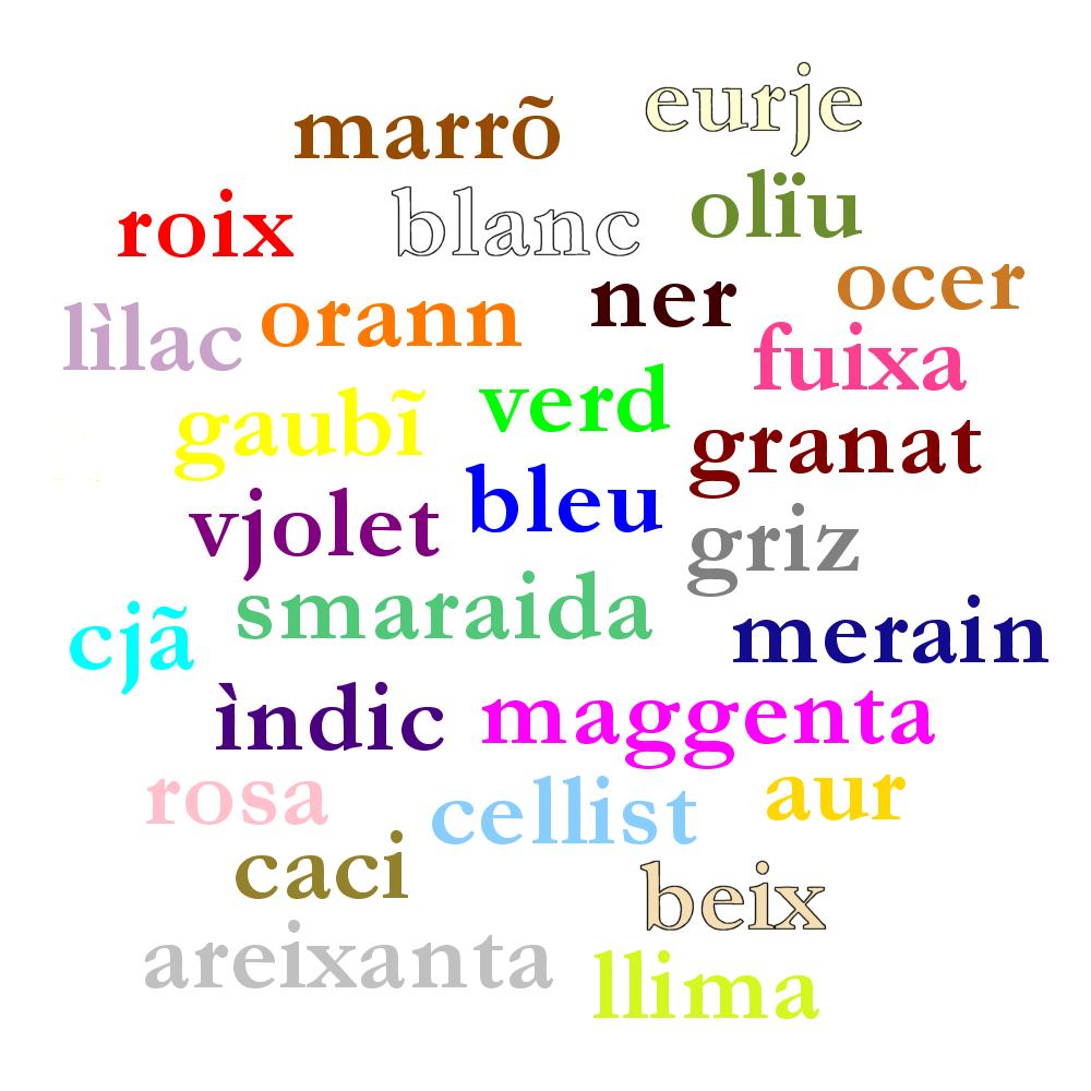 Colours in Aingeljã